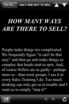 Expect Success App iPhone: Art of Selling, the only way to sell